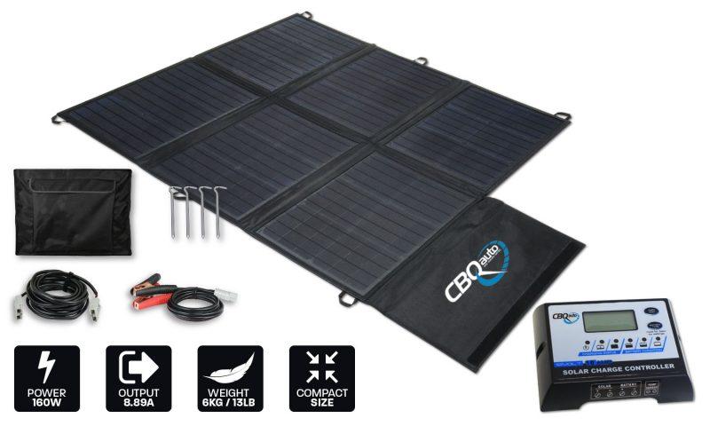 160w lightweight portable solar blanket