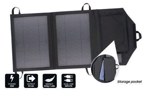 12W Personal Dual USB Solar Panel