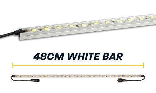 48cm White LED Camp Light Bar
