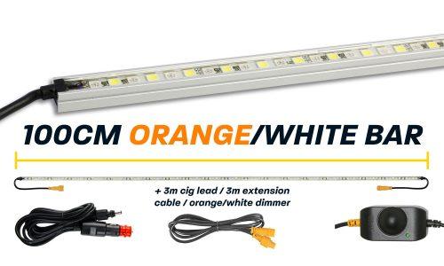 100cm Orange White LED Camp Light Bar Kit