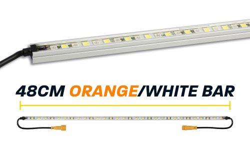 48cm Orange White LED Camp Light Bar