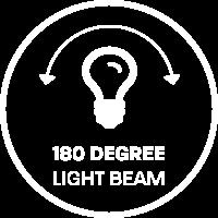 This LED light has a 180 degree light beam