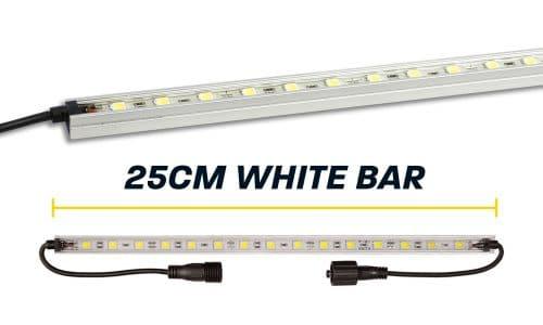 25cm White LED Camp Light Bar